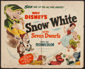 "Movie Posters:Animation, Snow White and the Seven Dwarfs (RKO, R-1951). Half Sheet (22"" X28"") Style A. Animation.. ..."