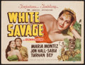 "Movie Posters:Adventure, White Savage (Film Classics, R-1949). Title Lobby Card (11"" X 14"").Adventure.. ..."