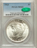 Peace Dollars: , 1923 $1 MS66 PCGS. CAC. PCGS Population (1665/46). NGC Census:(2889/89). Mintage: 30,800,000. Numismedia Wsl. Price for pr...