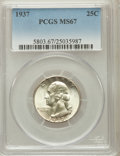 Washington Quarters, 1937 25C MS67 PCGS....