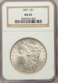 Morgan Dollars: , 1897 $1 MS65 NGC. NGC Census: (1495/161). PCGS Population(1448/297). Mintage: 2,822,731. Numismedia Wsl. Price forproblem...