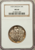 Commemorative Silver: , 1939 50C Oregon MS66 NGC. NGC Census: (304/102). PCGS Population(279/94). Mintage: 3,004. Numismedia Wsl. Price for proble...