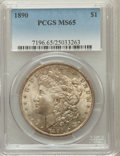 Morgan Dollars, 1890 $1 MS65 PCGS....