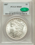 Morgan Dollars: , 1887 $1 MS66 PCGS. CAC. PCGS Population (1396/78). NGC Census:(3663/313). Mintage: 20,290,710. Numismedia Wsl. Price for p...