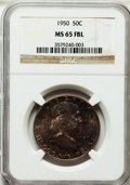 Franklin Half Dollars: , 1950 50C MS65 Full Bell Lines NGC. NGC Census: (287/38). PCGSPopulation (1020/191). Numismedia Wsl. Price for problem fre...