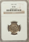 Buffalo Nickels: , 1921-S 5C VF35 NGC. NGC Census: (35/392). PCGS Population (69/591).Mintage: 1,557,000. Numismedia Wsl. Price for problem f...
