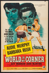 "World in My Corner (Universal International, 1956). One Sheet (27"" X 41""). Drama"