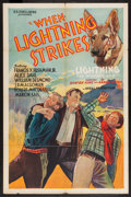 "Movie Posters:Adventure, When Lightning Strikes (William Steiner, 1934). One Sheets (2) (27""X 41""). Adventure.. ... (Total: 2 Items)"