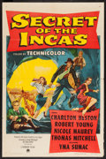 "Movie Posters:Adventure, Secret of the Incas (Paramount, 1954). One Sheet (27"" X 41"").Adventure.. ..."