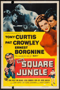 "Movie Posters:Sports, The Square Jungle (Universal, 1955). One Sheet (27"" X 41""). Sports.. ..."