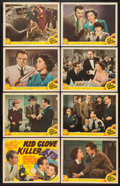"Movie Posters:Crime, Kid Glove Killer (MGM, 1942). Lobby Card Set of 8 (11"" X 14"").Crime.. ... (Total: 8 Items)"