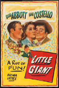 "Little Giant (Universal, 1946). Trimmed One Sheet (27"" X 40.5""). Comedy"