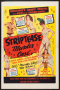 "Movie Posters:Sexploitation, Striptease Murder Case (Classic Pictures, 1950). One Sheet (27"" X41""). Sexploitation.. ..."