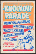 """Movie Posters:Sports, Knockout Parade (Cardinal Films, 1953). One Sheet (27"""" X 41""""). Sports.. ..."""