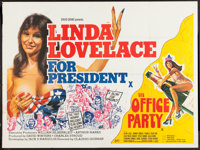 """Linda Lovelace for President/The Office Party Combo (General Film, 1976). British Quad (30"""" X 40""""). Adult"""