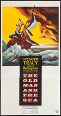 "Movie Posters:Adventure, The Old Man and the Sea (Warner Brothers, 1958). Three Sheet (41"" X79""). Adventure.. ..."