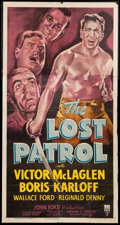 "Movie Posters:War, The Lost Patrol (RKO, R-1949). Three Sheet (41"" X 78""). War.. ..."