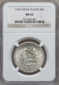 Commemorative Silver: , 1936 50C Rhode Island MS65 NGC. NGC Census: (1007/348). PCGSPopulation (1164/527). Mintage: 20,013. Numismedia Wsl. Price ...