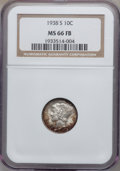 Mercury Dimes: , 1938-S 10C MS66 Full Bands NGC. NGC Census: (183/72). PCGSPopulation (350/119). Mintage: 8,090,000. Numismedia Wsl. Price ...