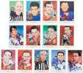 Hockey Collectibles:Others, 1983 Hockey Greats Signed Hockey Hall of Fame Postcards Lot of 13. ...