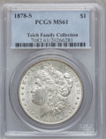 Morgan Dollars: , 1878-S $1 MS61 PCGS. EX: Teich Family Collection. PCGS Population(726/34327). NGC Census: (761/34080). Mintage: 9,774,000....