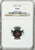 Proof Seated Half Dimes: , 1870 H10C PR66 NGC. NGC Census: (22/7). PCGS Population (12/2).Mintage: 1,000. Numismedia Wsl. Price for problem free NGC/...