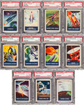 "Non-Sport Cards:Sets, 1953 F280-3 Rice Chex ""Space Patrol"" PSA-Graded Partial Set (11)...."