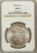 Morgan Dollars: , 1898-O $1 MS66 NGC. NGC Census: (1861/174). PCGS Population(1861/159). Mintage: 4,440,000. Numismedia Wsl. Price for probl...