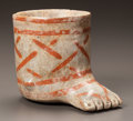 Pre-Columbian:Ceramics, A JALISCO VESSEL IN THE FORM OF A HUMAN FOOT. c. 200 BC - 200 AD...