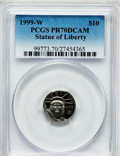 Modern Bullion Coins, 1999-W P$10 Tenth-Ounce Platinum Statue of Liberty PR70 Deep CameoPCGS. PCGS Population (178). NGC Census: (629). Mintage:...