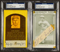 Baseball Collectibles:Others, Eppa Rixey and Ed Walsh Signed Cut Signature Displays Lot of 2....