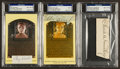 Baseball Collectibles:Others, Comiskey, Schalk and Collins Signed Cut Signature Displays Lot of 3....