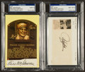 Baseball Collectibles:Others, Bill Klem and Bill McGowan Signed Cut Signature Displays Lot of 2....
