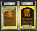 Baseball Collectibles:Others, Branch Rickey and Jackie Robinson Signed Cut Signature Displays Lot of 2. ...