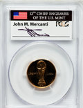 Modern Issues, 1994-W G$5 World Cup Gold Five Dollar PR69 Deep Cameo PCGS. Ex:Signature of John M. Mercanti, 12th Chief Engraver of the ...