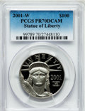 Modern Bullion Coins, 2001-W P$100 One-Ounce Platinum Statue of Liberty PR70 Deep CameoPCGS. PCGS Population (101). NGC Census: (282). Numismed...