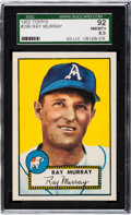 Baseball Cards:Singles (1950-1959), 1952 Topps Ray Murray #299 SGC 92 NM/MT+ 8.5 - Pop Two, One Higher! ...