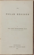 Books:Travels & Voyages, John Richardson. The Polar Regions. Adam and Charles Black, 1861. First edition, first printing. Contemporary full c...