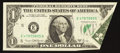 Error Notes:Foldovers, Fr. 1907-E $1 1969D Federal Reserve Note. Extremely Fine.. ...