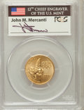 Modern Issues, 1996-W G$5 Olympic/Flag Bearer Gold Five Dollar MS70 PCGS. Ex:Signature of John M. Mercanti, 12th Chief Engraver of the U....