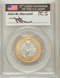 Modern Issues, 2000-W $10 Library of Congress Bimetallic Ten Dollars MS70 PCGS.Ex: Signature of John M. Mercanti, 12th Chief Engraver of ...