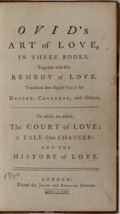 Books:Literature Pre-1900, Ovid. Art of Love. Jacob and Richard Tonson, 1764. Lateredition. Contemporary half calf with light rubbing and ...