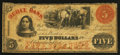 Obsoletes By State:Tennessee, Cleaveland, TN- Ocoee Bank $5 Oct. 24, 1859. ...