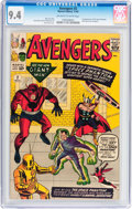 Silver Age (1956-1969):Superhero, The Avengers #2 (Marvel, 1963) CGC NM 9.4 Off-white to white pages....