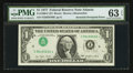 Error Notes:Inverted Third Printings, Fr. 1909-F $1 1977 Federal Reserve Note. PMG Choice Uncirculated 63EPQ.. ...