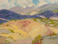Paintings, ORIN SHELDON PARSONS (American, 1866-1943). Taos Mountain Landscape. Oil on board. 9-1/4 x 12 inches (23.5 x 30.5 cm). S...