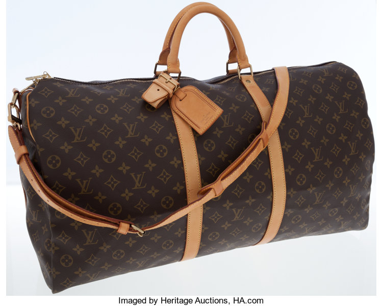 29b896e3438 ... Luxury Accessories Bags, Louis Vuitton Classic Monogram Canvas Keepall  Bandouliere 60Weekender Bag with Shoulder ...