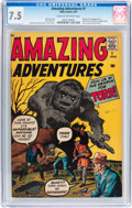 Silver Age (1956-1969):Horror, Amazing Adventures #1 (Marvel, 1961) CGC VF- 7.5 Cream to off-whitepages....