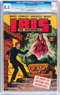 Ibis The Invincible #1 (Fawcett, 1943) CGC VF+ 8.5 Cream to off-white pages