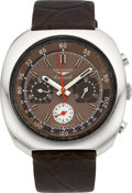 Timepieces:Wristwatch, Longines Ref. 8595-1 Conquest Steel Chronograph, circa 1960's. ...
